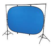 1.5*2м Фон хромакей FST на пружине green/blue (muslin backdrop, Chroma Key) складной, фото 6