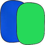 1.5*2м Фон хромакей FST на пружине green/blue (muslin backdrop, Chroma Key) складной, фото 2