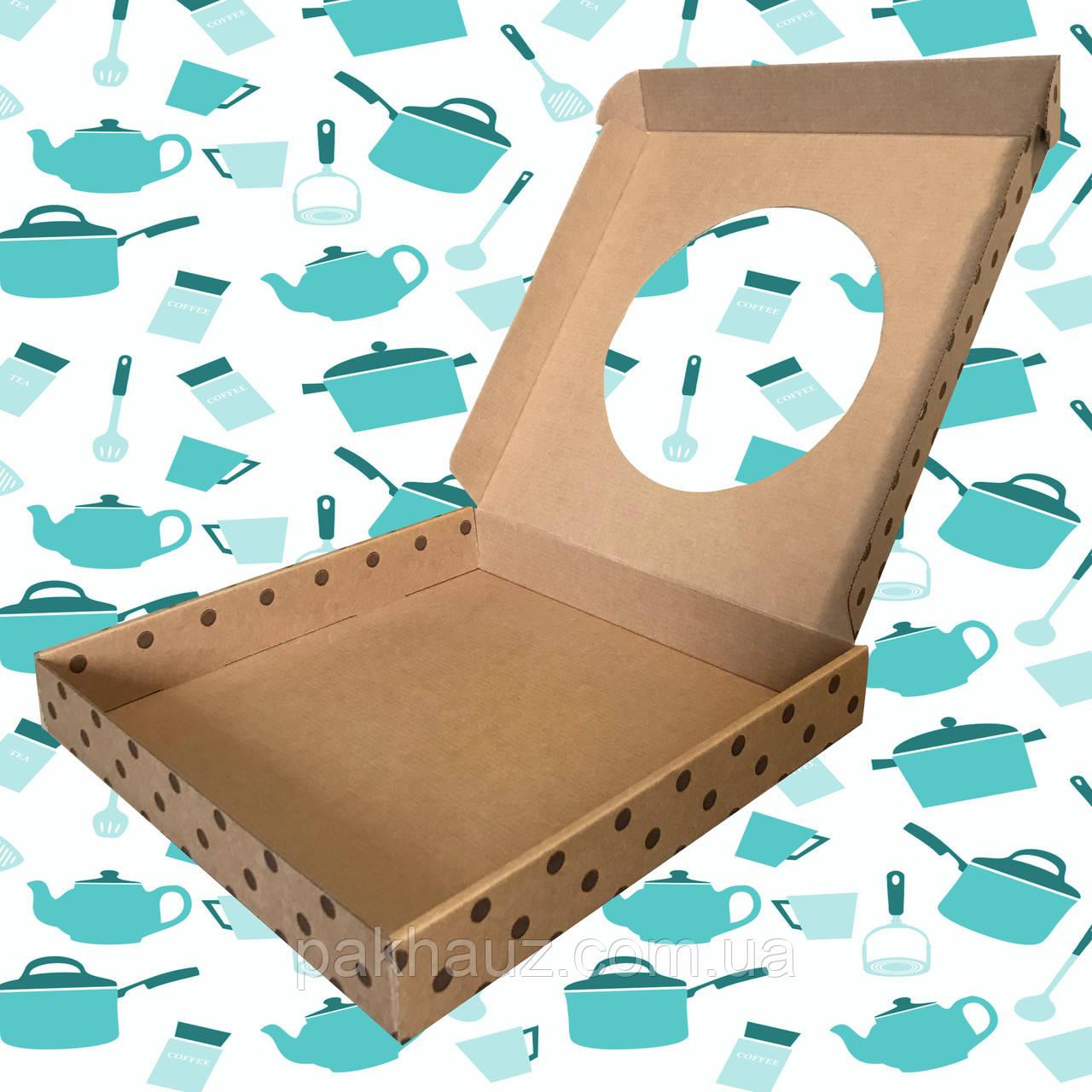 Коробка с окошком для посуды