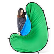 1.5*2м Фон хромакей FST на пружине green/blue (muslin backdrop, Chroma Key) складной, фото 3