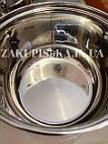 Набір каструль з нержавіючої сталі German Family GF-2027 Каструлі з кришками Набір кухонного посуду, фото 6