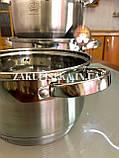 Набір каструль з нержавіючої сталі German Family GF-2027 Каструлі з кришками Набір кухонного посуду, фото 8