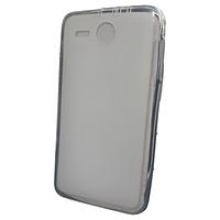 Силиконовая полупрозрачная накладка Lenovo A680 серо-прозрачный