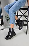 Ботинки женские кожа лак черные зимние, фото 4