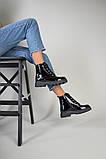 Ботинки женские кожа лак черные зимние, фото 5