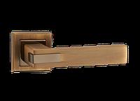 """Дверная ручка на розетке MVM """"QOOB"""" Z-1320 MАСC/РCF (матовая бронза/полированная бронза)"""