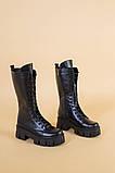 Сапоги женские кожаные черные зимние, фото 9