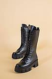 Сапоги женские кожаные черные зимние, фото 10