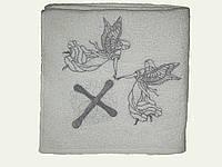 Махровое полотенце для крестин (билый) 105х105