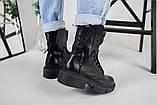 Ботинки женские кожаные черные зимние, фото 3