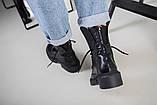 Ботинки женские кожаные черные зимние, фото 4
