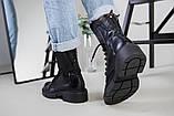 Ботинки женские кожаные черные зимние, фото 5