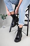 Ботинки женские кожаные черные зимние, фото 6