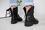 Ботинки женские кожаные черные зимние, фото 10