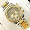 Яркие наручные часы Rolex Daytona Women Crystal Silver/Gold 20032