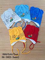 Тонкие детские шапочки 0-3 мес. Опт