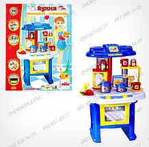 Детская игрушечная кухня 08912 со световыми и звуковыми эффектами,открывается духовка,овощи.Тематический набор, фото 3