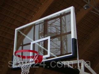 Щит баскетбольний професійний вуличний посилений (оргскло 10 мм)