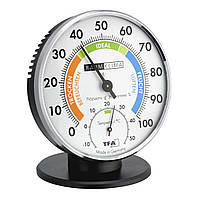 Термогигрометр аналоговый с подставкой TFA Silver 102*35(80)*102(114) мм
