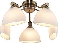 Люстра потолочная Altalusse INL-9281C-05 Antique Brass & Walnut