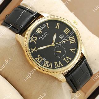 Модные наручные часы Rolex Geneve Black/Gold/Black 20038