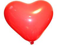 """Сердце 10"""" пастель 45 красный"""