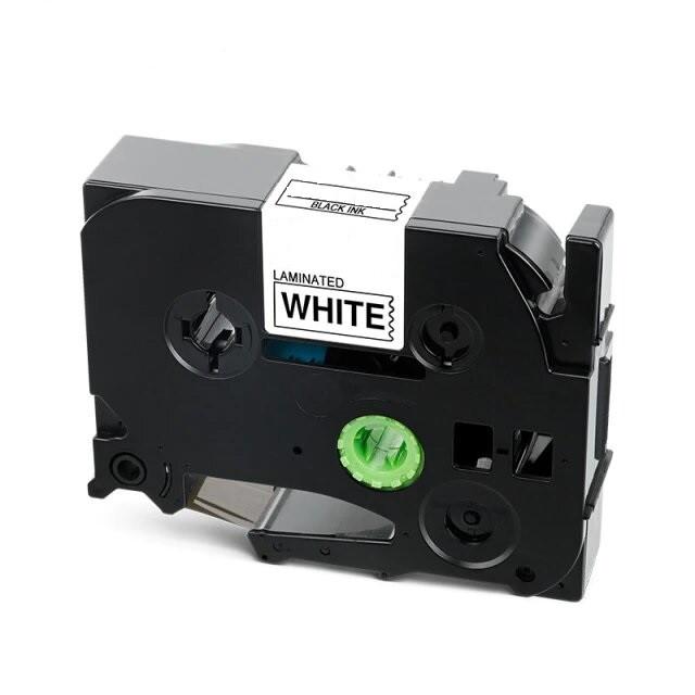Стрічка для принтера етикеток Brother P-Touch TZE251 (TZe-251) Laminated 24 мм, чорний на білому
