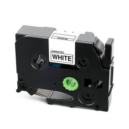 Стрічка для принтера етикеток Brother P-Touch TZE251 (TZe-251) Laminated 24 мм, чорний на білому, фото 2