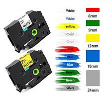 Лента для принтера этикеток Brother P-Touch TZE251 (TZe-251) Laminated 24 мм, черный на белом, фото 2