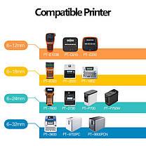 Стрічка для принтера етикеток Brother P-Touch TZE251 (TZe-251) Laminated 24 мм, чорний на білому, фото 3