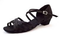 Бальные черные туфли Латина для девочек