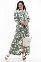 Платье Медина свободного прямого силуэта длиной макси 42-56 размер разные цвета