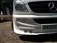 Накладка на передний бампер 4 фары Mercedes Sprinter 906