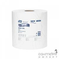 Аксессуары для ванной комнаты Tork Повышенной прочности протирочная бумага в большом рулоне, 2 слоя Tork 130060 белая