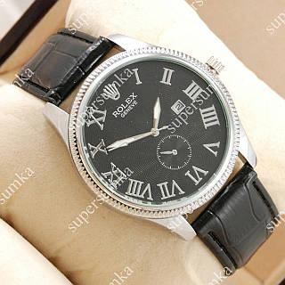 Повседневные наручные часы Rolex Geneve Black/Silver/Black 20041