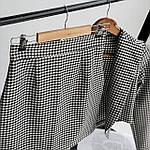 Женский костюм, костюмка, р-р 42-44; 44-46 (черно-белая клетка), фото 3
