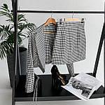 Женский костюм, костюмка, р-р 42-44; 44-46 (черно-белая клетка), фото 5