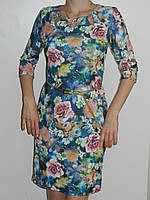 Красивое платье с розами из вискозы Exclusive 50085643 рр. M