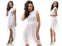 """Платье из гипюра белого цвета """"Нежность"""""""