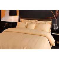 Комплект постельного белья Valeron сатин 200х220 Larkin v03 золотой (8696048165362)