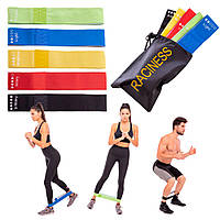 Фитнес резинки TTCZ (комплект из 5 штук) + Подарок мешочек для хранения / Ленты сопротивления
