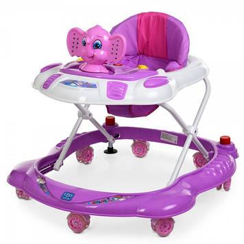 Детские ходунки каталка с силиконовыми колесами для детей Ходунки детские музыкальные