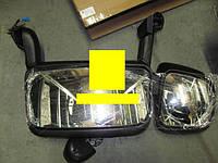 Зеркало боковое SCANIA, VOLVO FH12, правое осн+дополнит.(длин. кронштейн) эл./привод 650X290
