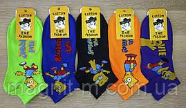 """Чоловічі молодіжні шкарпетки """"Наталі"""". Сімпсони. №LA659."""