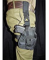 Кобура тактическая набедренная Черная, фото 1