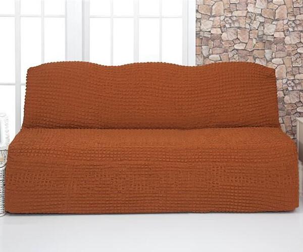 Чехол для мебели Milano диван жатка без подлокотников и оборки Корица