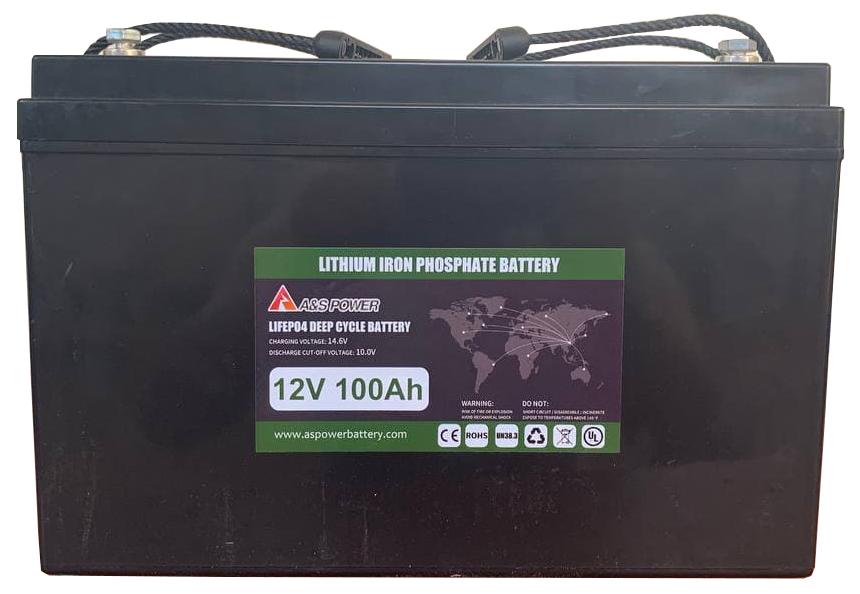 Аккумуляторная батарея 12V 100Ah (литий-ионная) Lifepo4