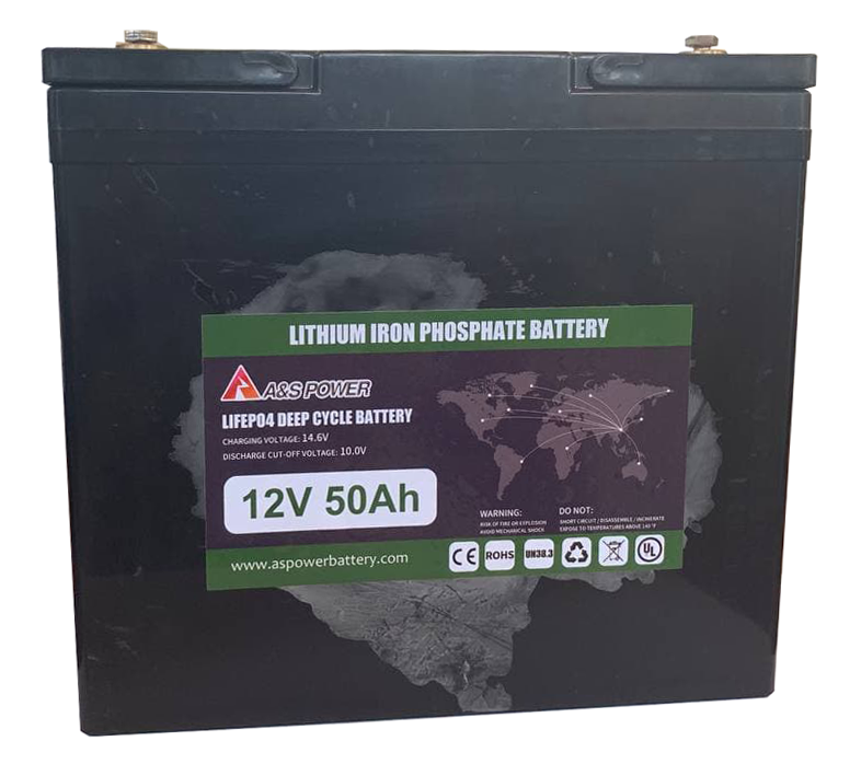 Аккумуляторная батарея 12V 50Ah (литий-ионная) Lifepo4