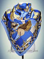 Шерстяной платок Конфети голубой
