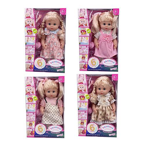 Лялька R321002B5-B6-C12-C14 (12шт) Валюша, 35см, звук (рус), п'є-пісяє, 4в, бат (таб), в кор-ке, 23-36-11см